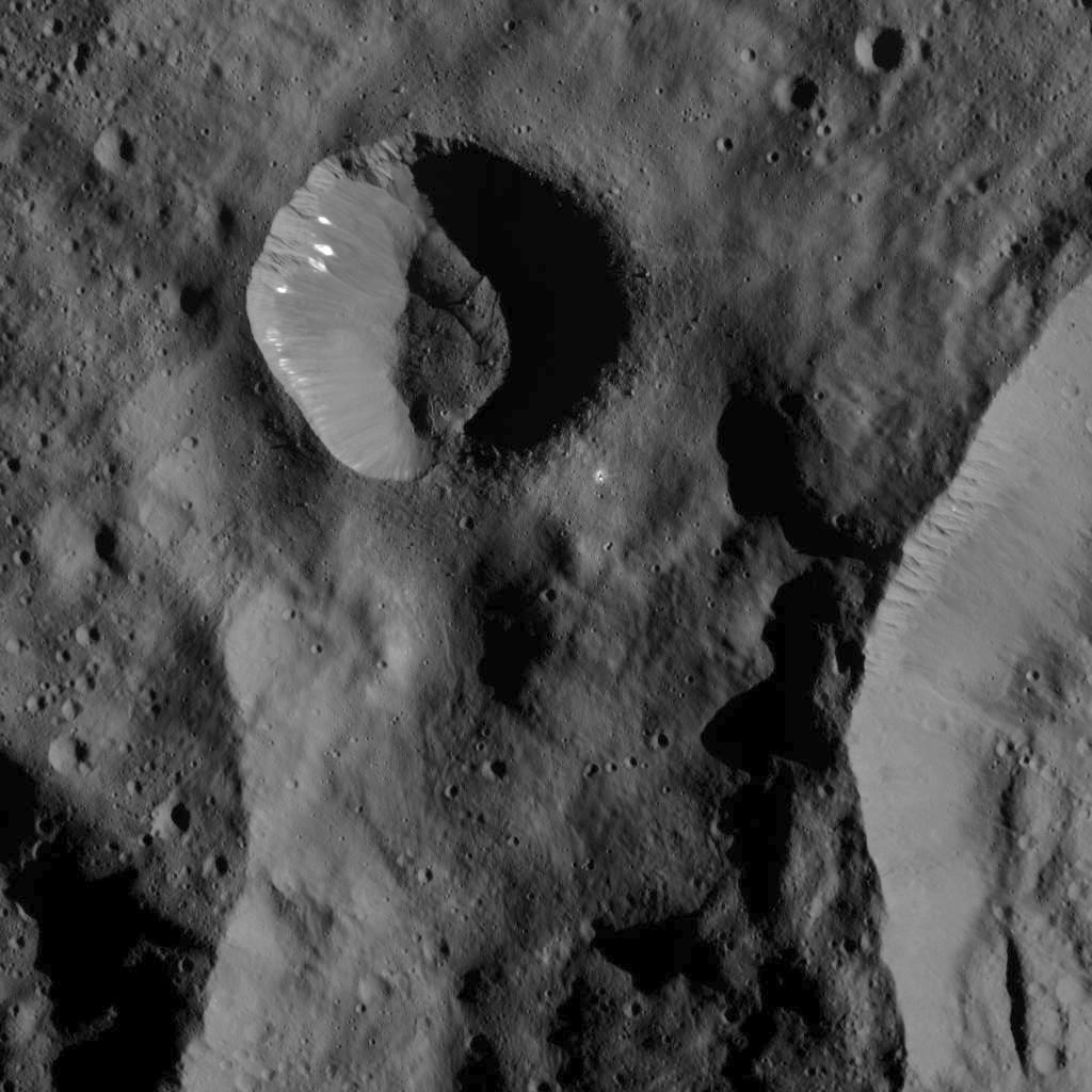Bright Spots in Small Crater on Ceres