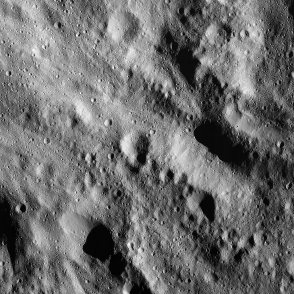 Smooth Material on Ceres