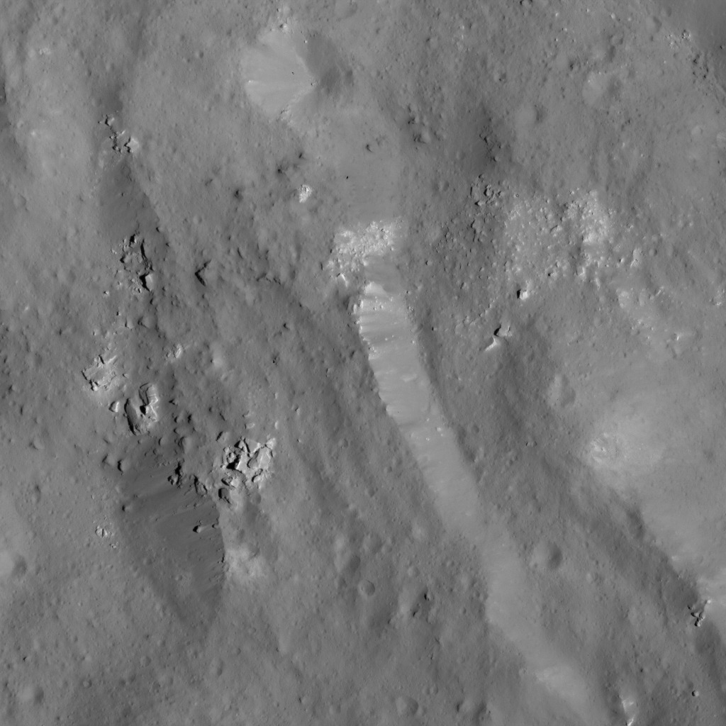 Boulder Field Near Occator Crater's Eastern Rim