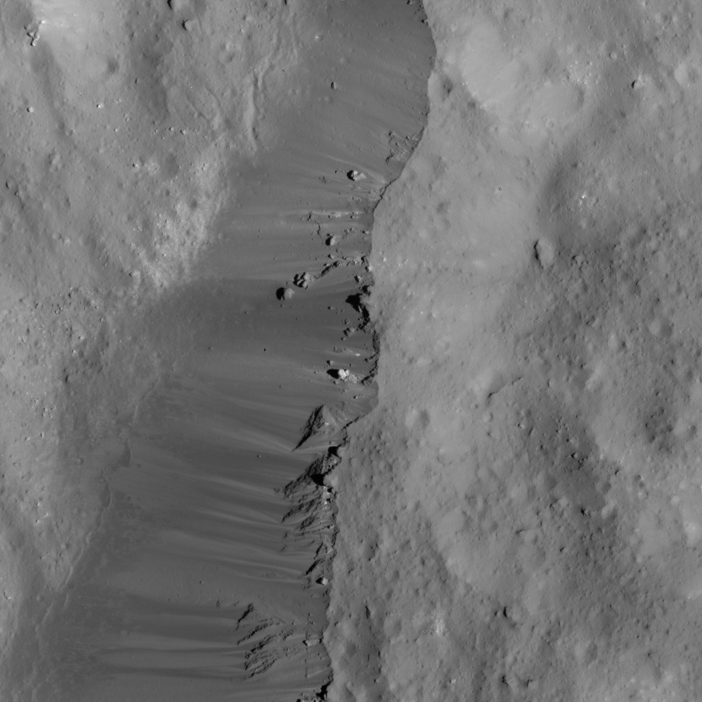 Occator Crater's Eastern Rim
