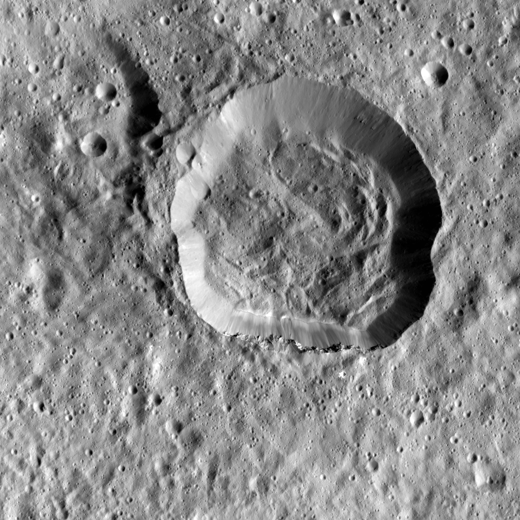 Emesh Crater on Ceres