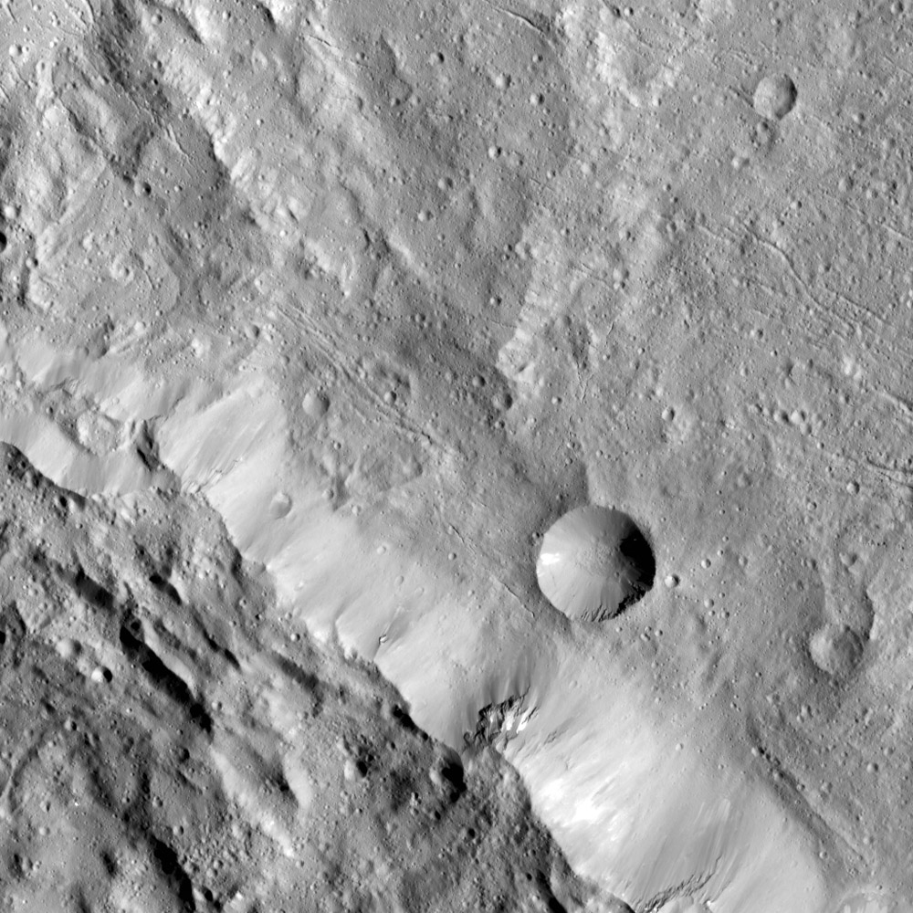 Axomama Crater on Ceres
