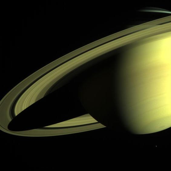 Saturn from Far and Near (Cassini-Huygens)