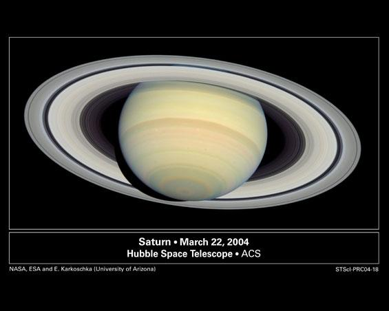 Saturn from Far and Near (Hubble Space Telescope)
