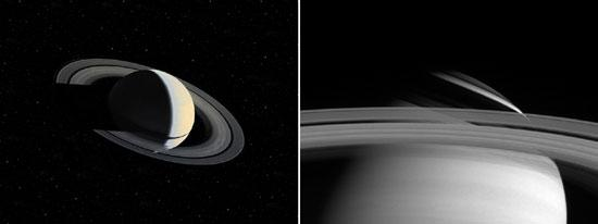 Saturn's Ring Shadow, Then and Now
