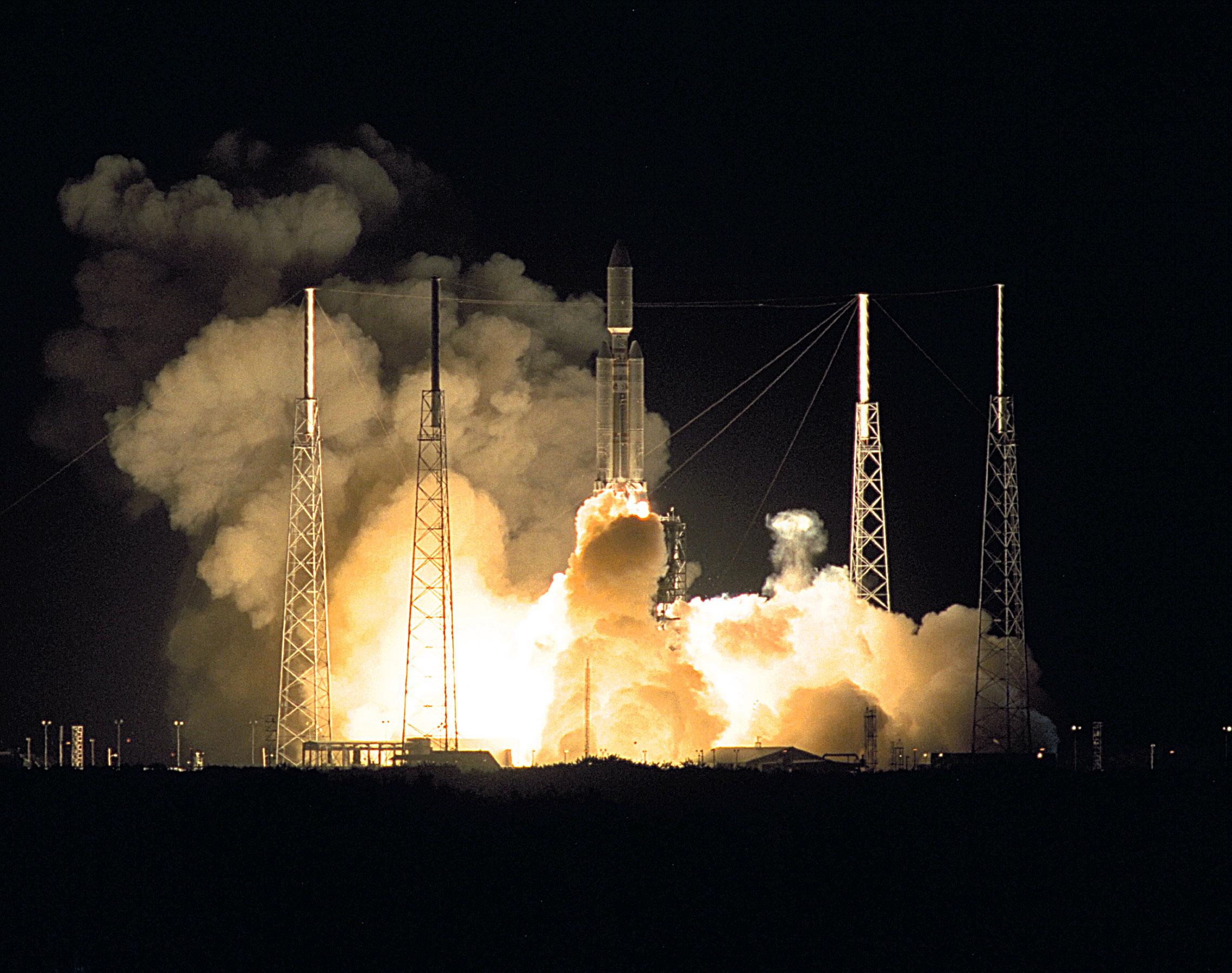 Color image of rocket launch