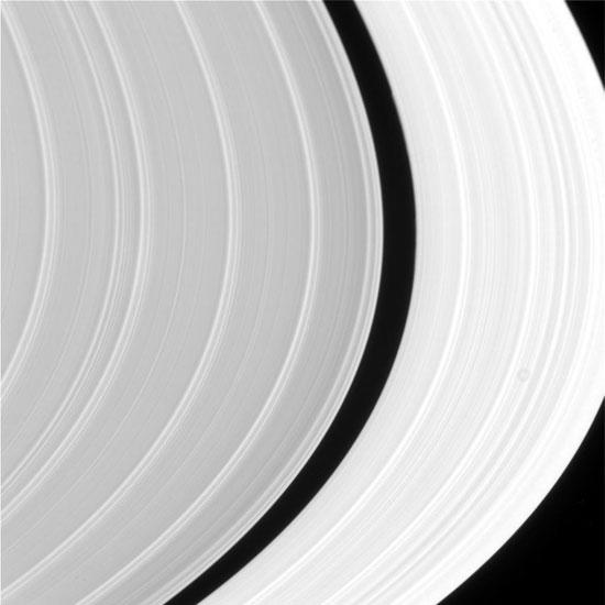 Saturn's Sunlit Rings