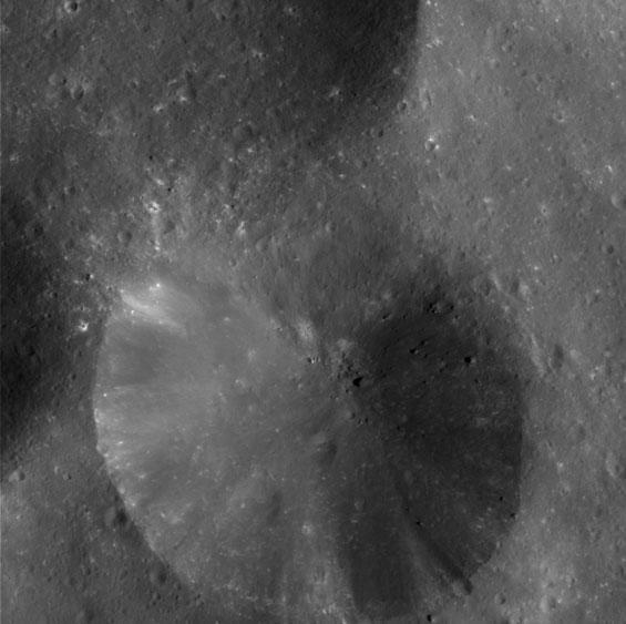 Crater Close-up on Phoebe