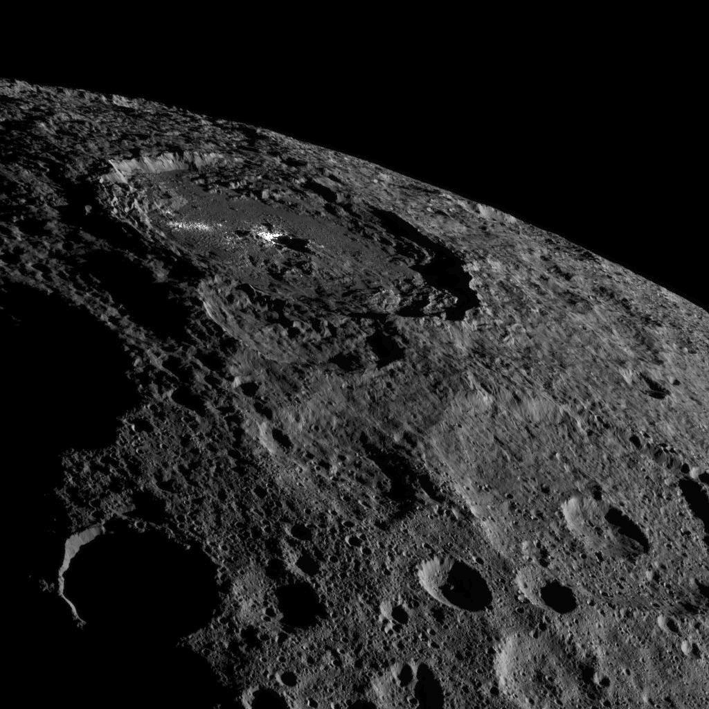 Occator on Ceres' Limb