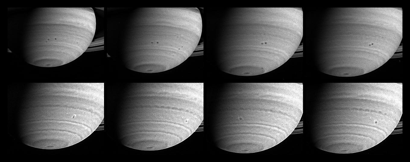 Cassini Captures Merging Storms