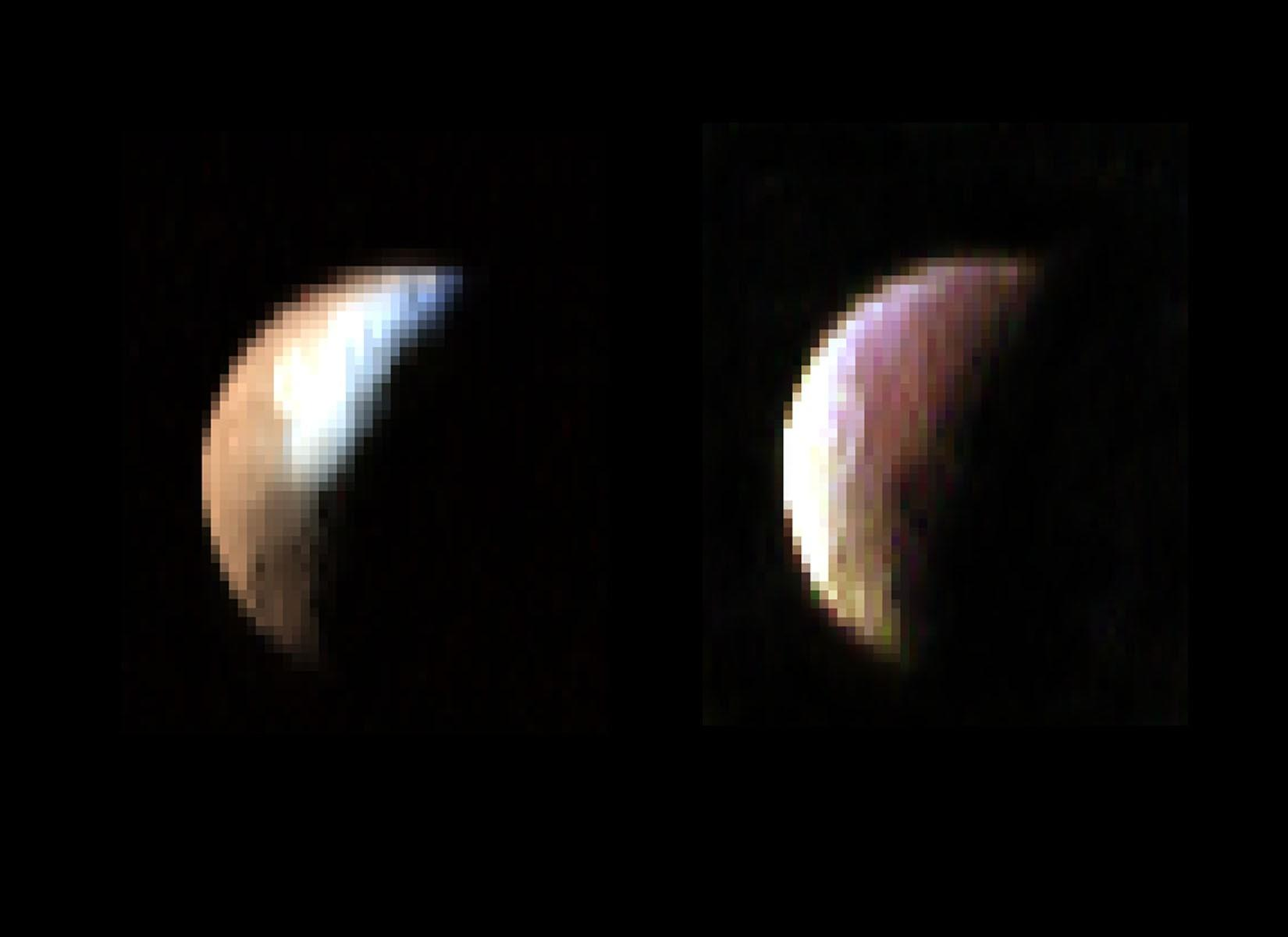 Fuzzy color images of Iapetus