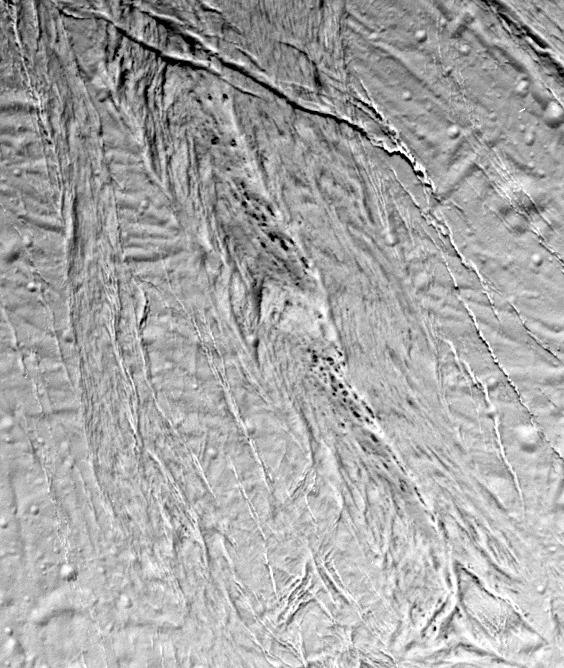 """Smooth plains"" on the surface of Saturn's moon Enceladus"