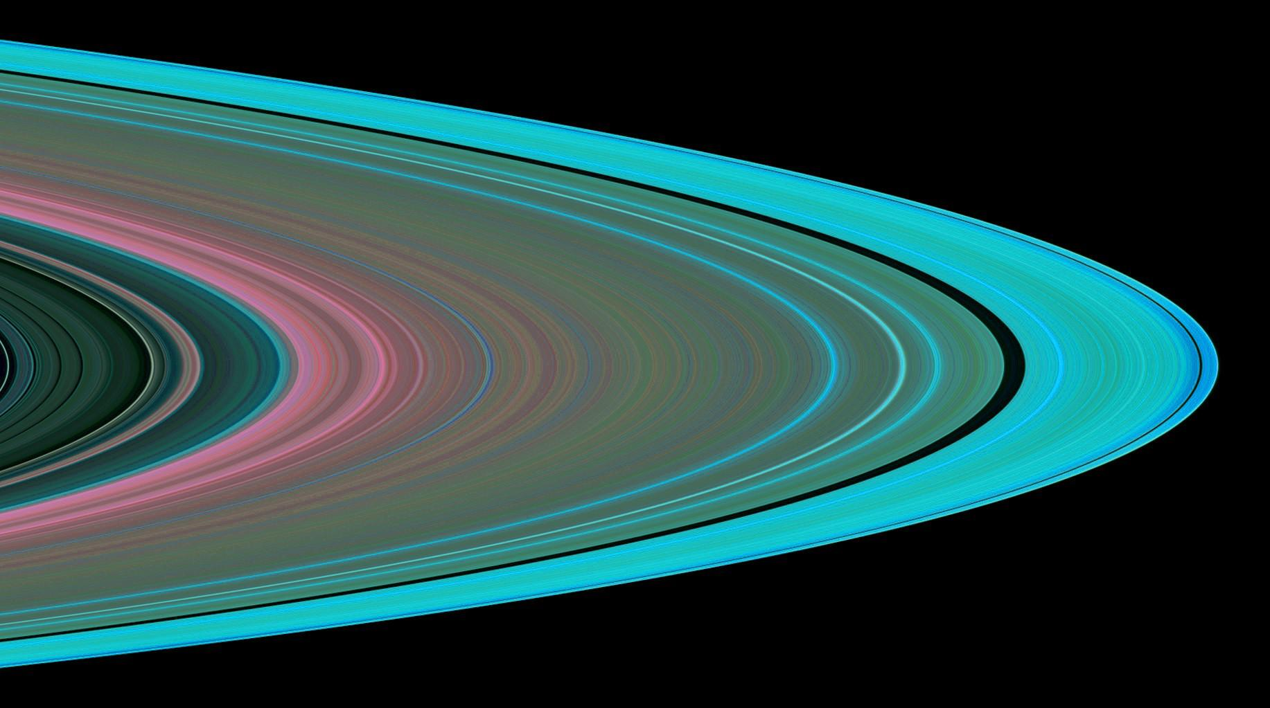 A simulated image of Saturn's rings