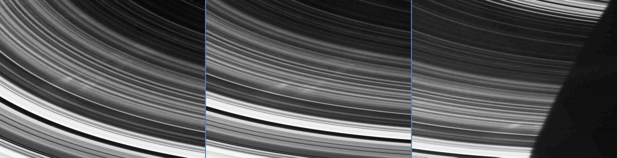 This is an image of the spokes inside Saturn's rings.