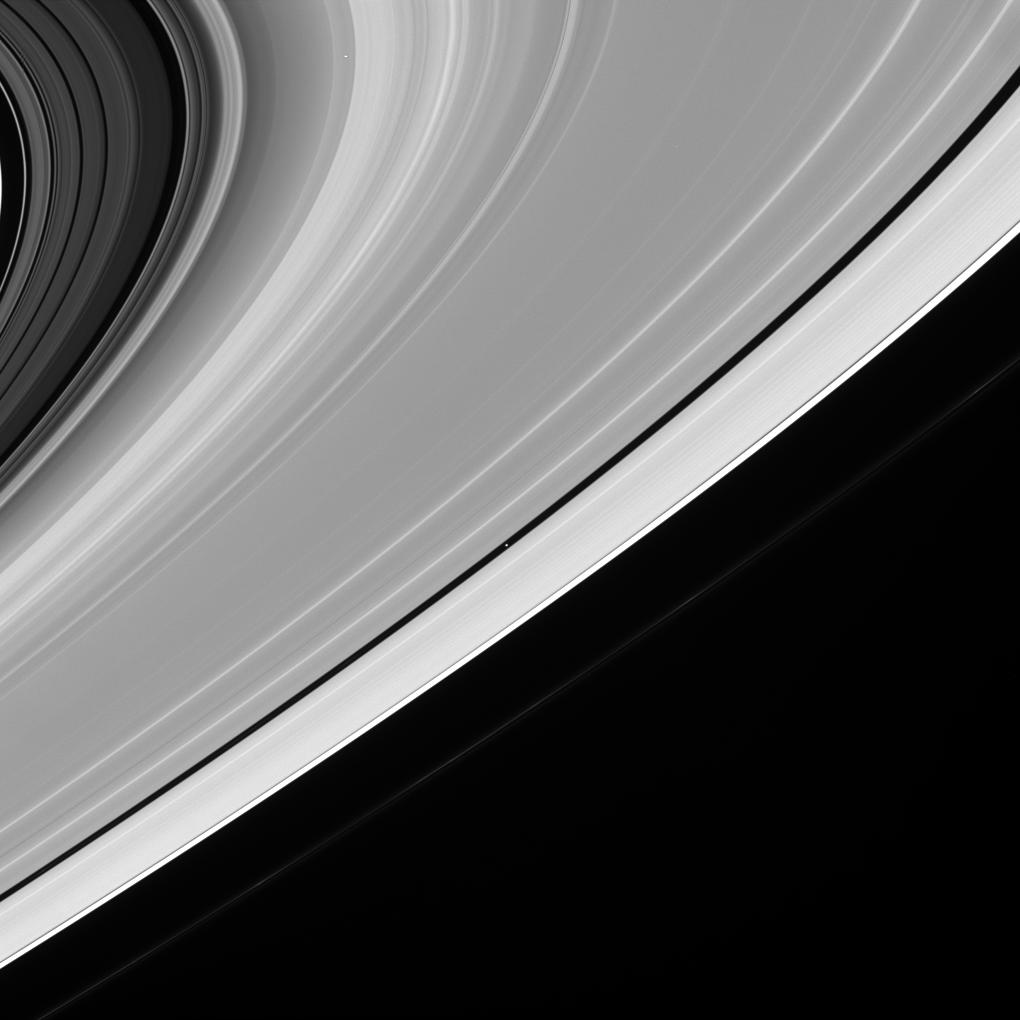 This is an image of Saturn's icy rings