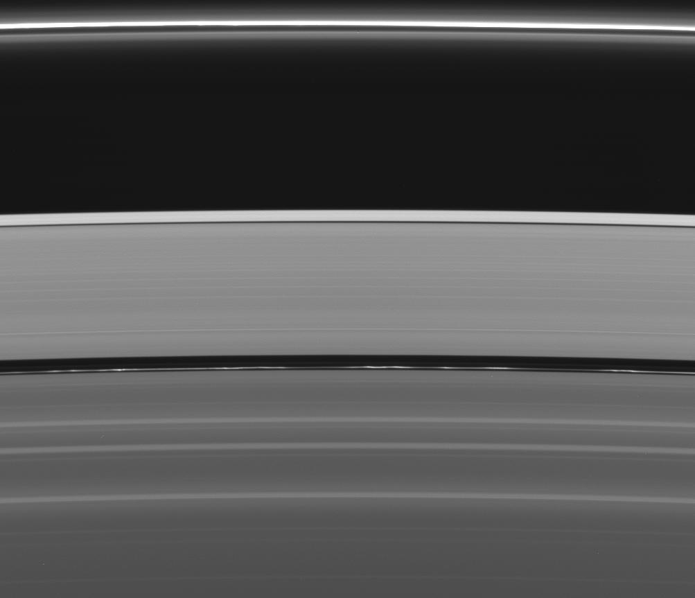 a view of four narrow ringlets in the Encke Gap