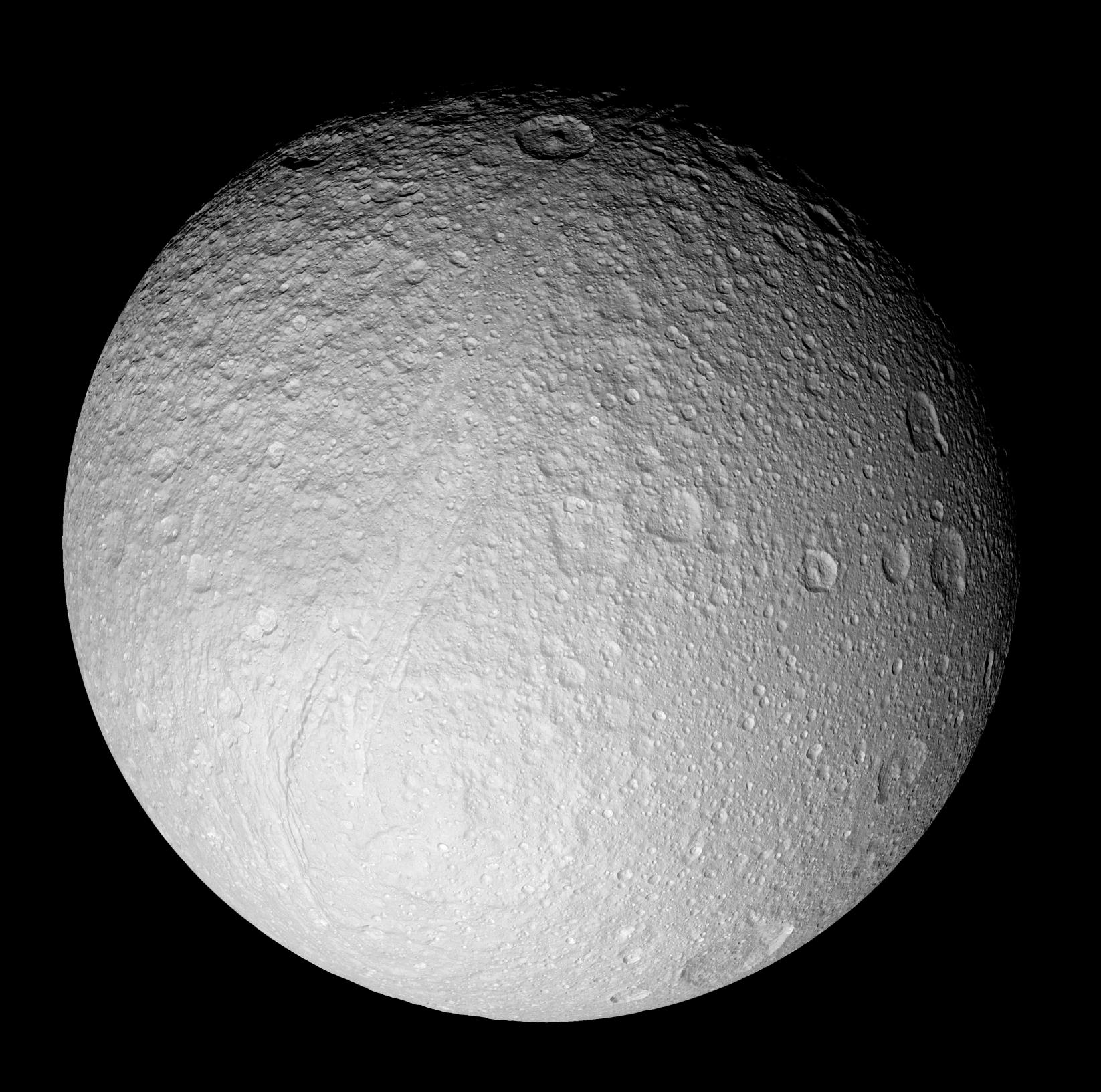 a full-disk mosiac of Tethys