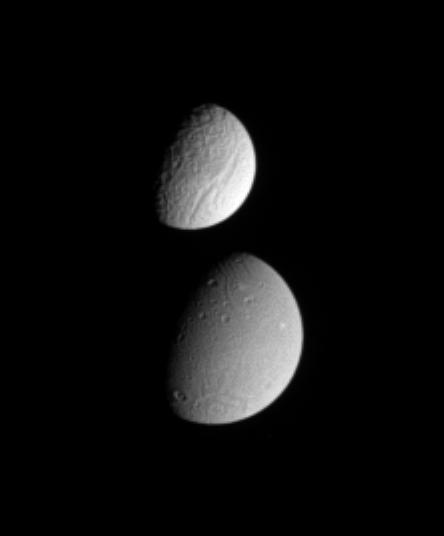 Dione and Tethys together