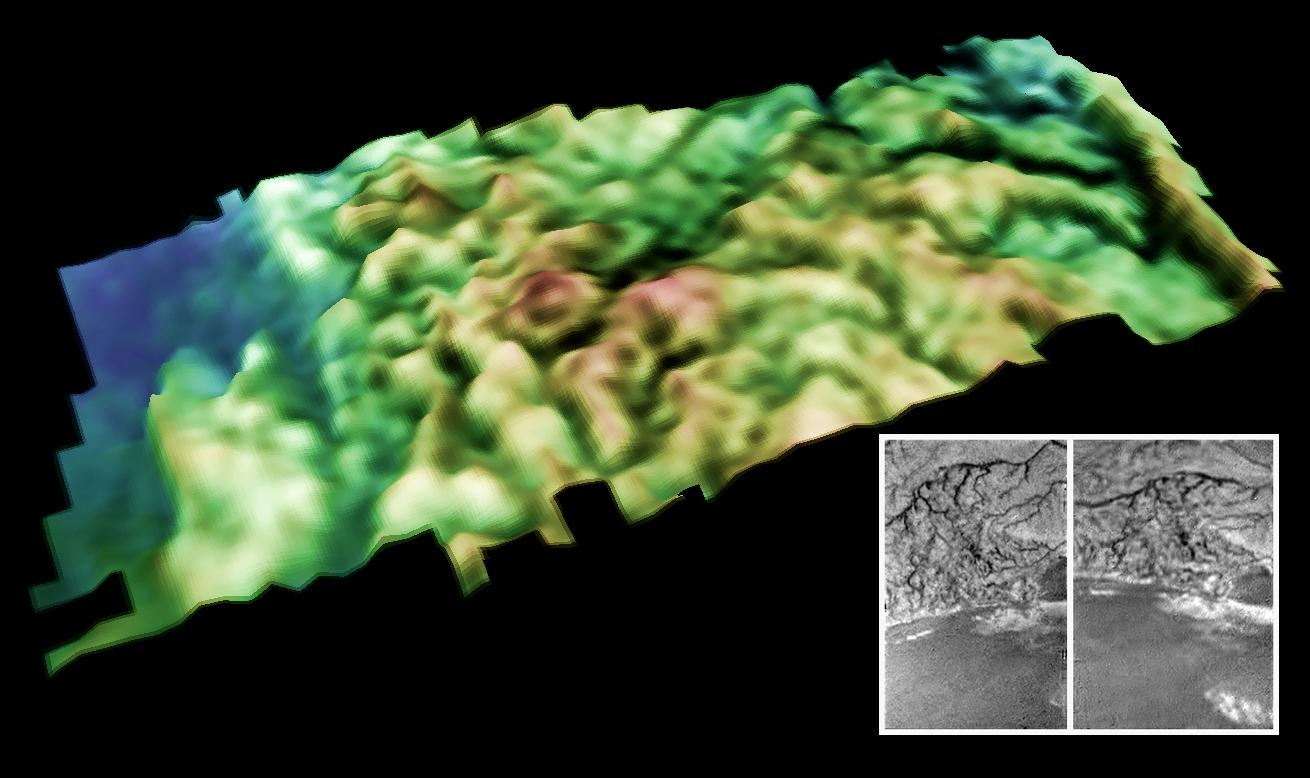 3-D view of the Huygens Landing Site