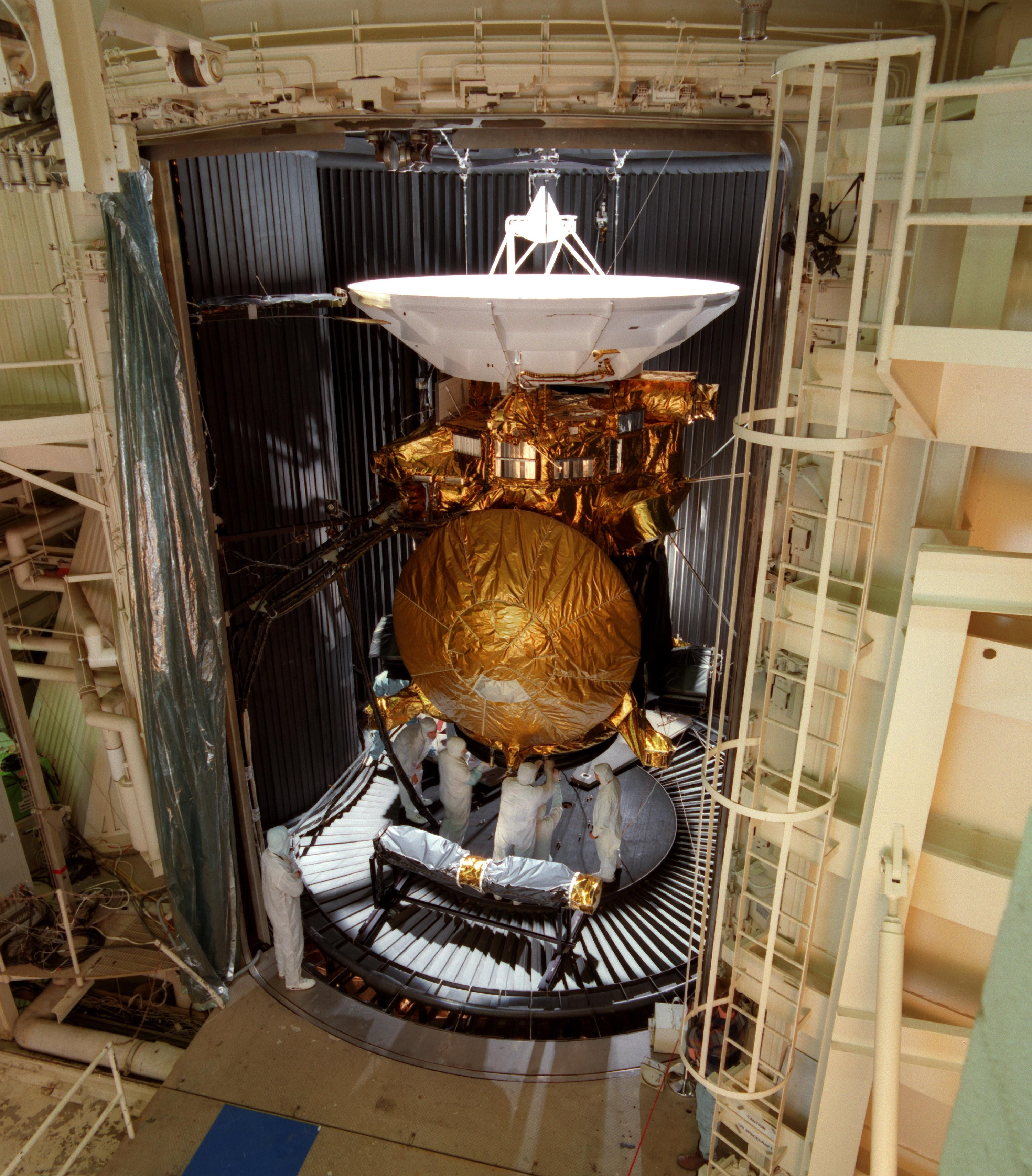 Cassini in the testing chamber