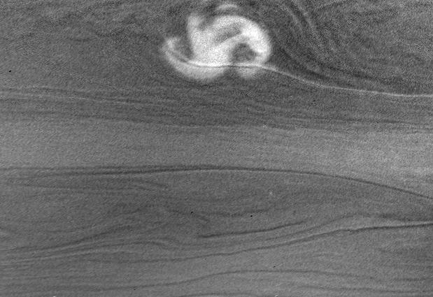 A storm on Saturn