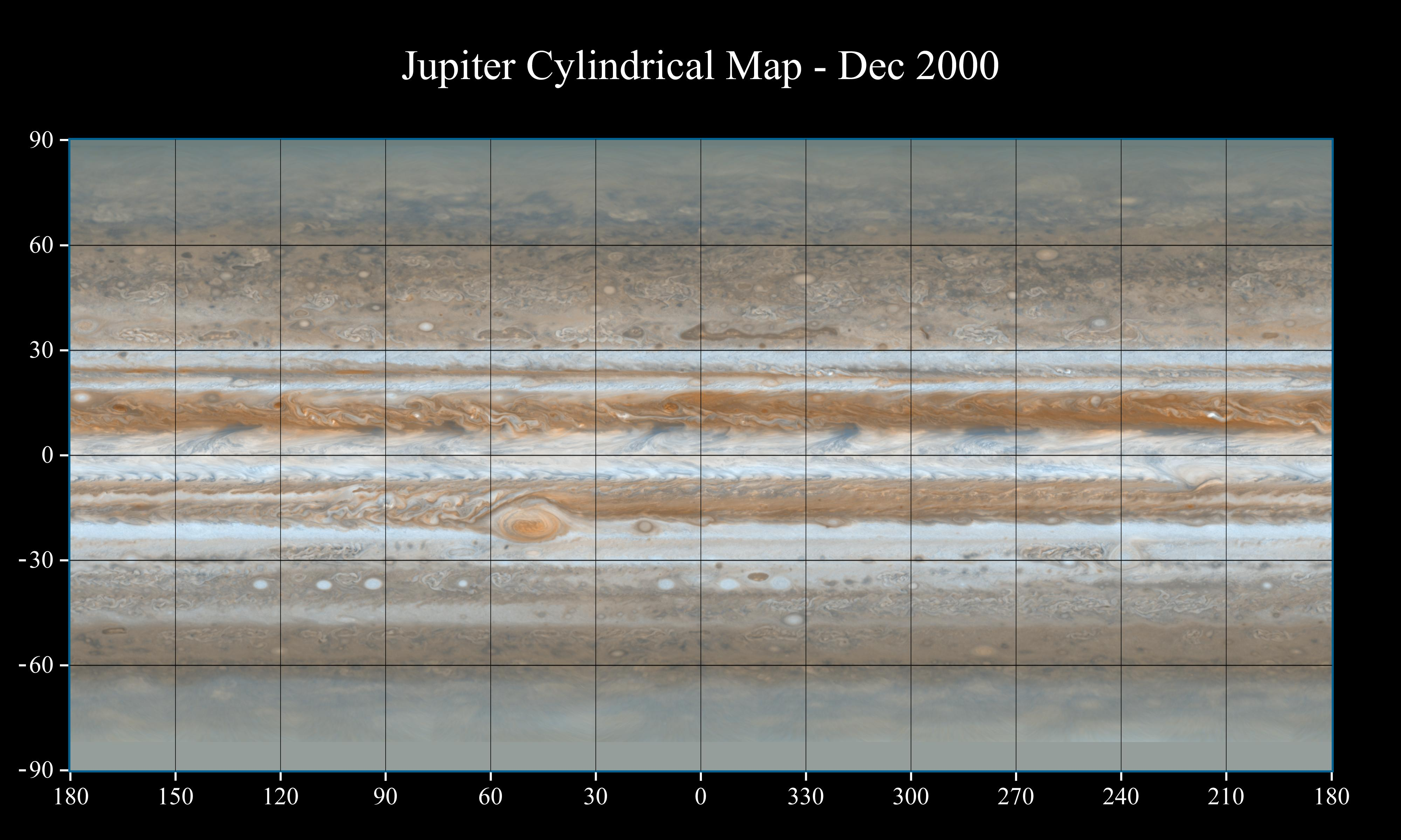 Map of Jupiter