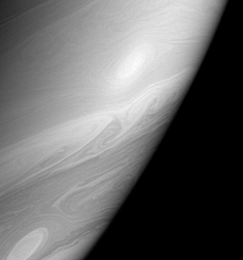 Close-up of Saturn's atmosphere