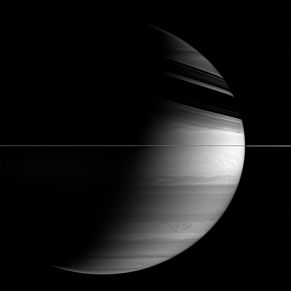 A detailed view of Saturn's clouds