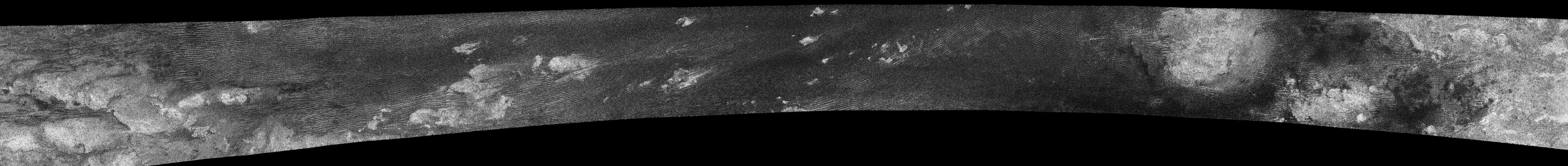 Titan's dunes, from Oct. 28, 2005 flyby