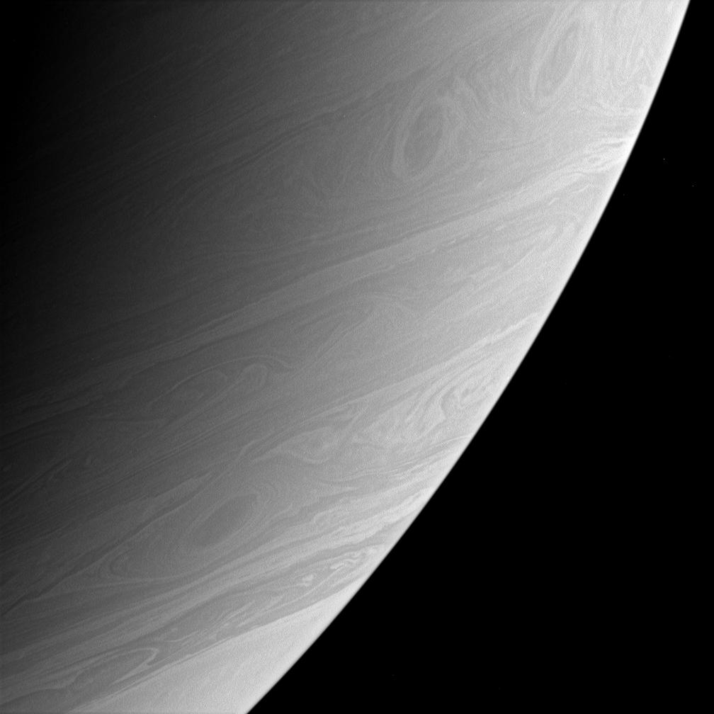 Three vortices on Saturn