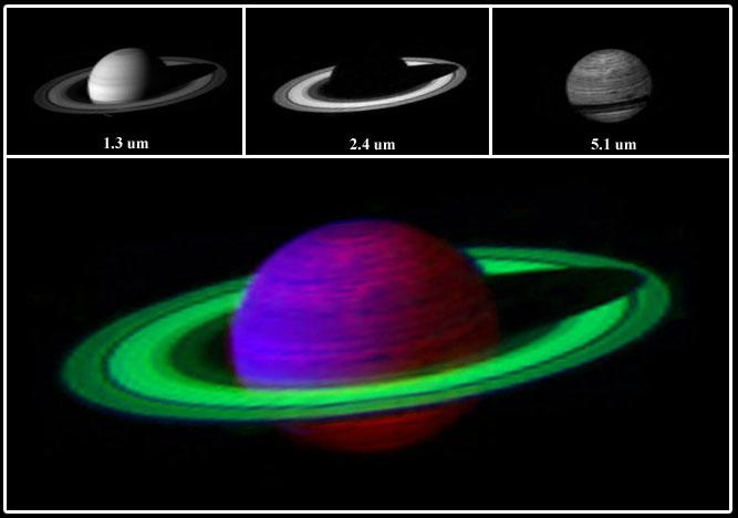 False-color image of Saturn