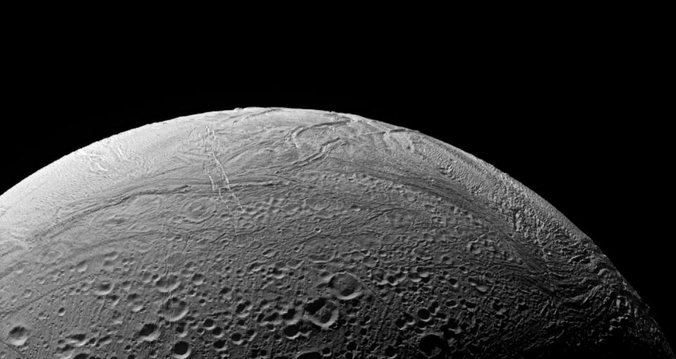 Enceladus' south polar region