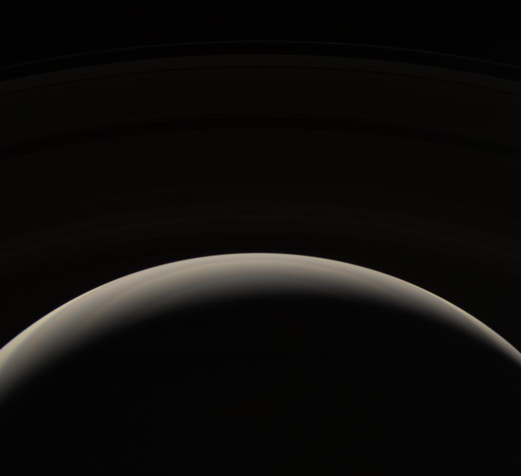 Saturn's murky northern hemisphere