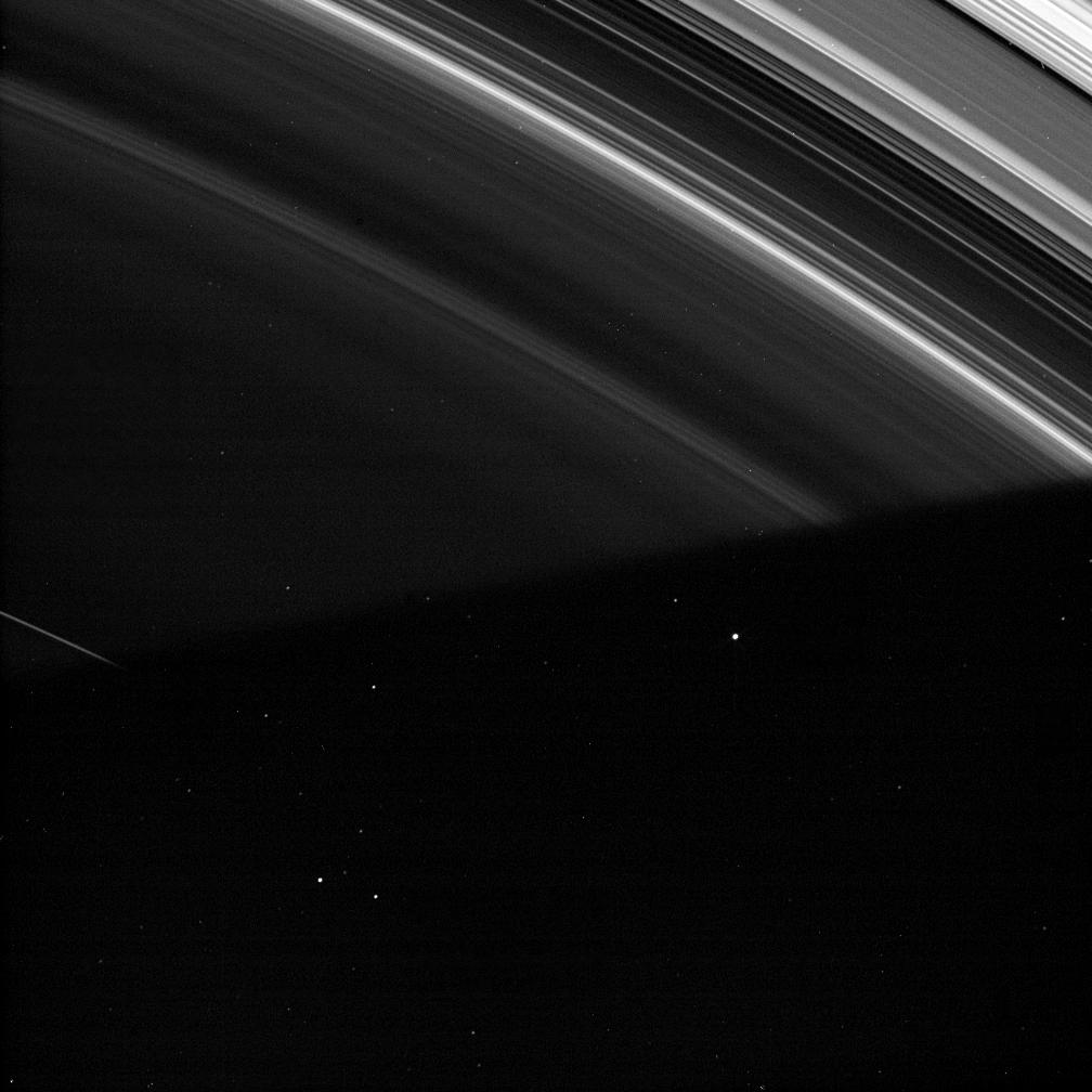 Saturn's shadow cloaks the faint D ring