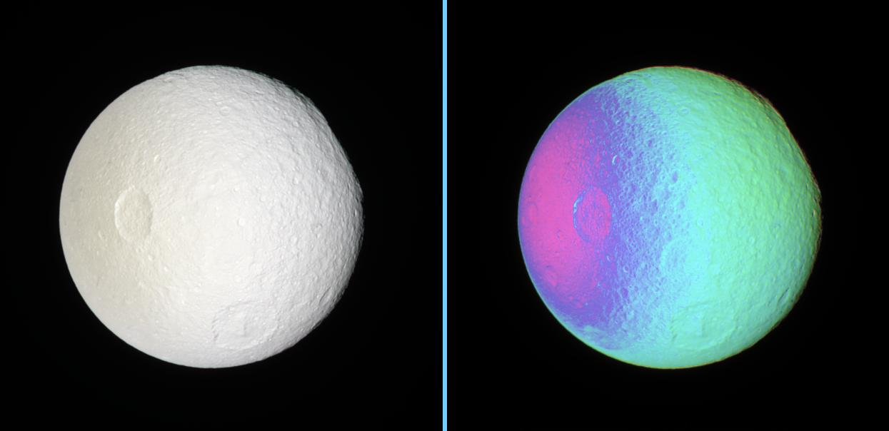 Two views of Tethys