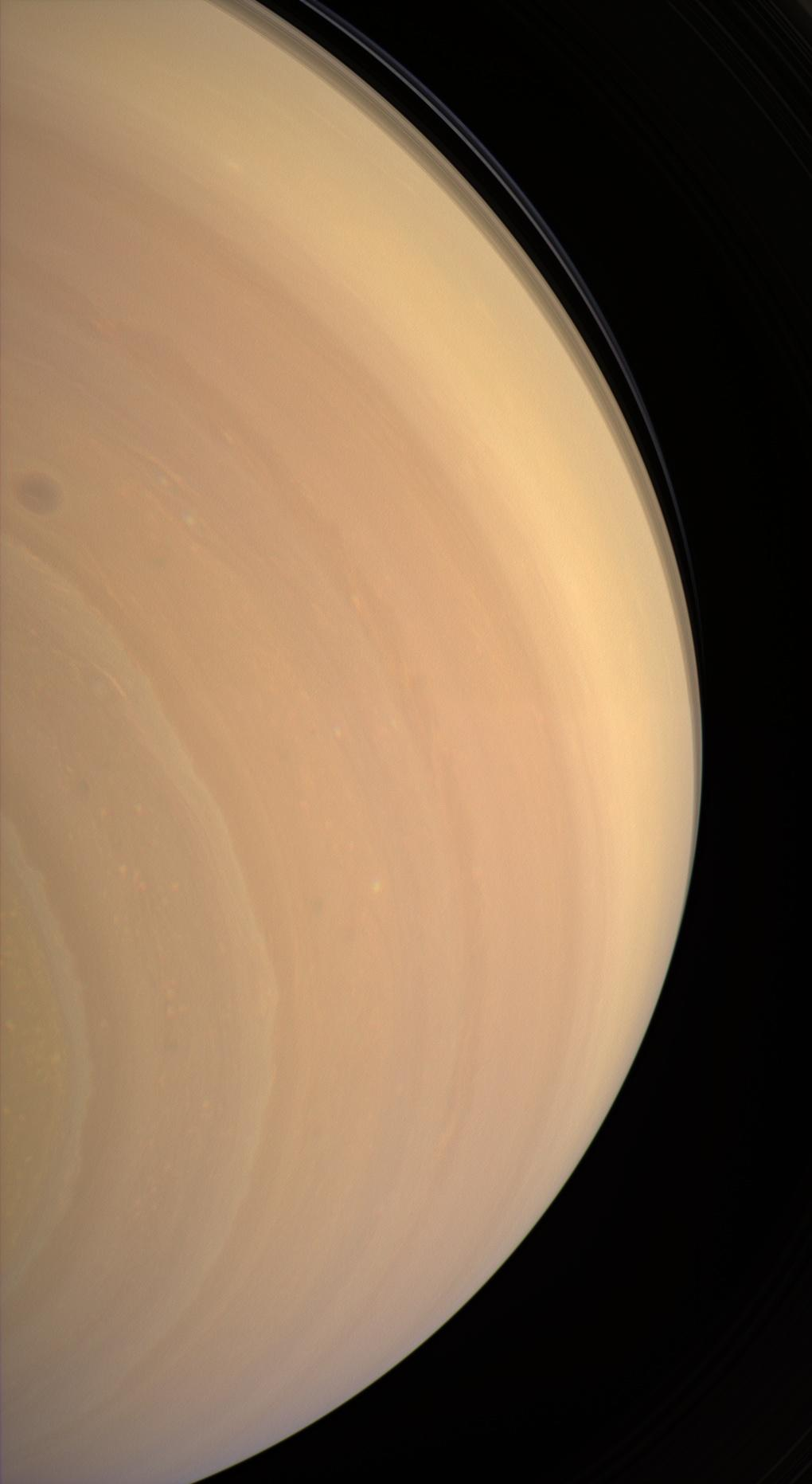 Saturn, extreme southern view