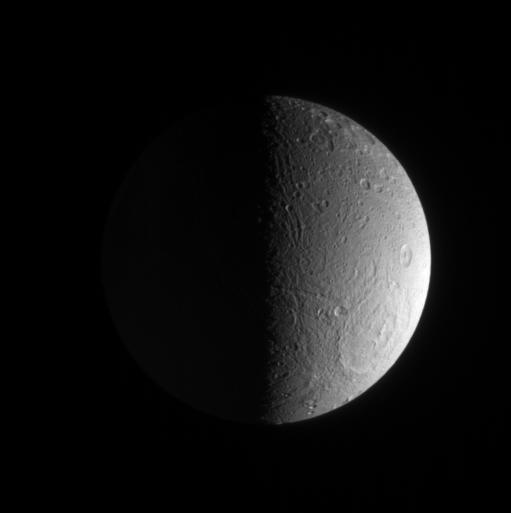 Dione, high southern latitudes