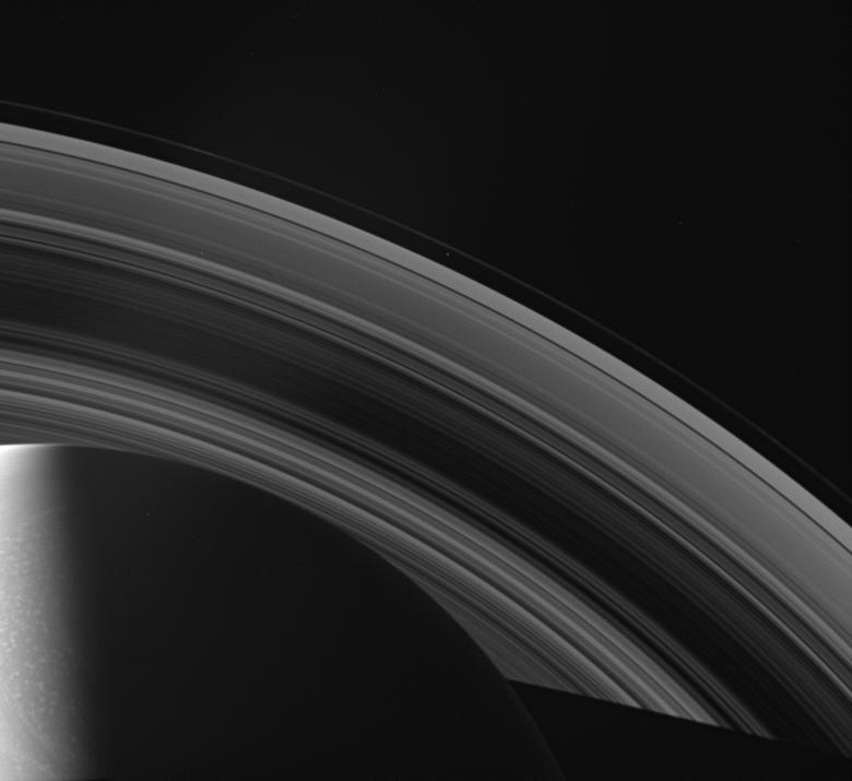 Saturn, its rings and Prometheus