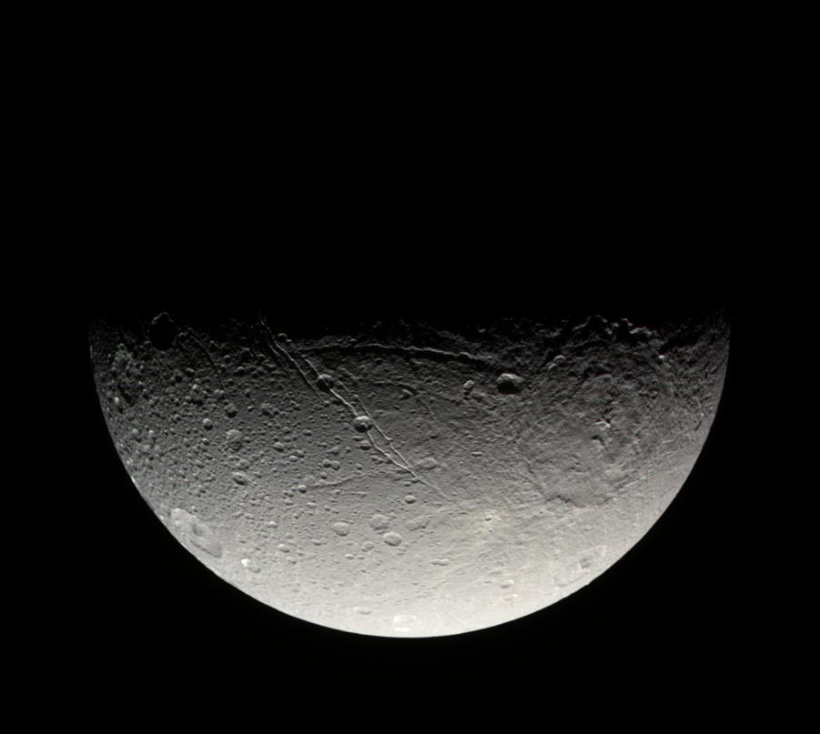 Dione's south pole