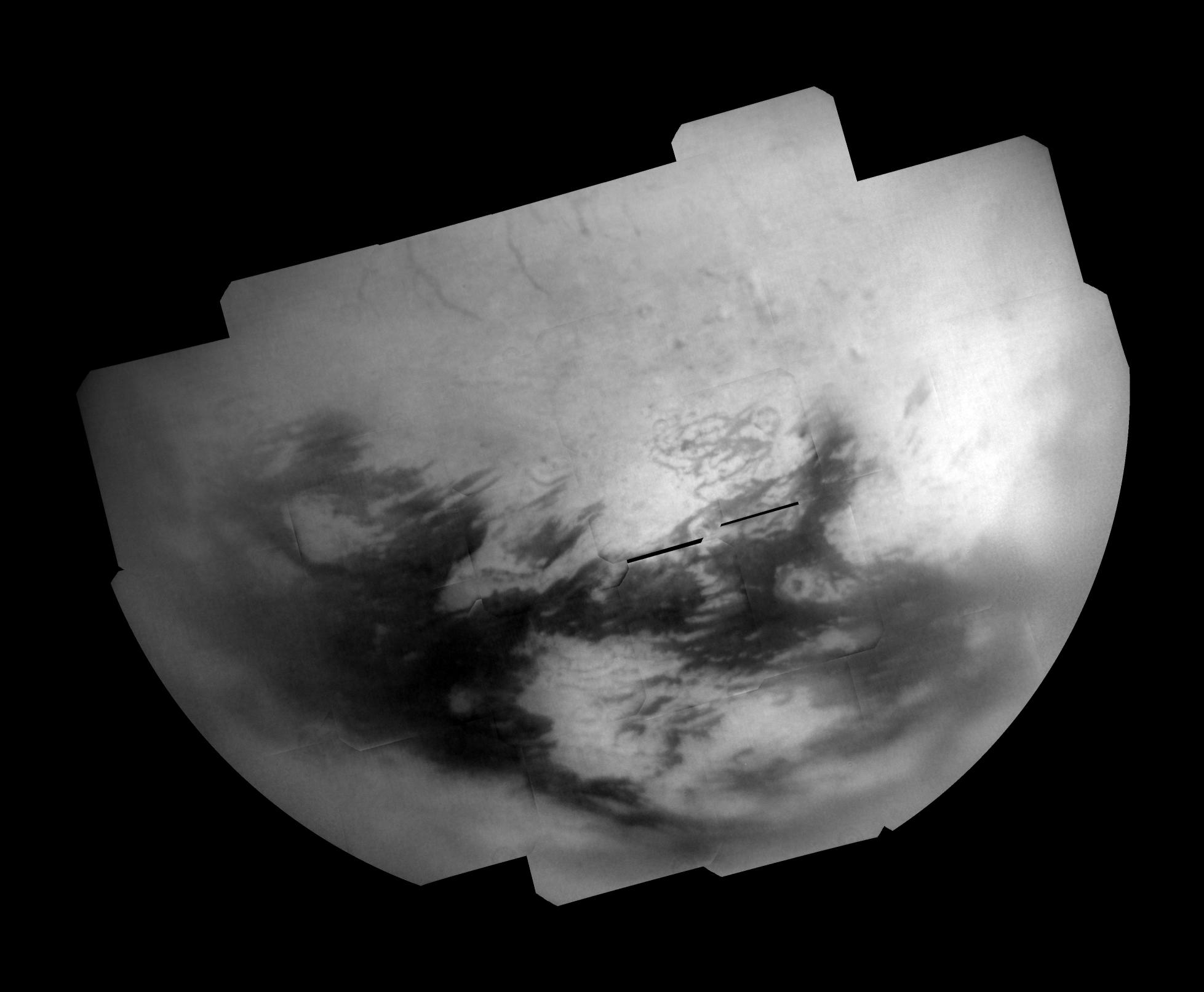Bright and dark terrains on Titan