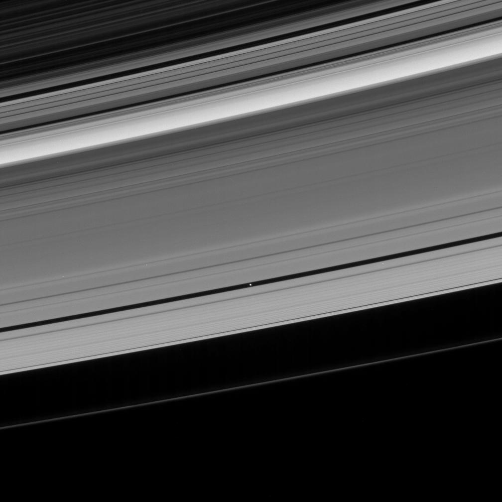 Saturn's rings and Pan