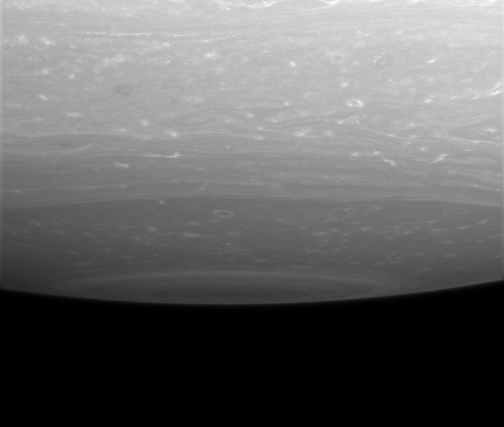 Storms near the south pole of Saturn