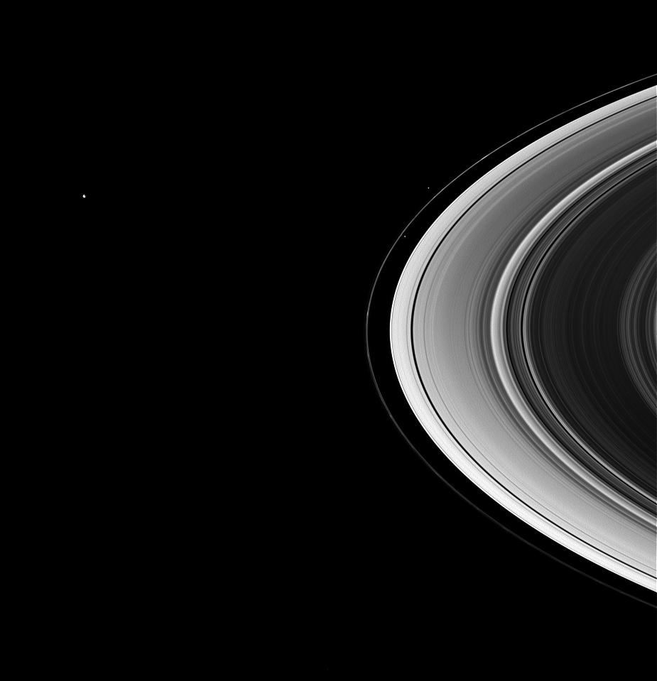 Prometheus, Pandora, Mimas and the F ring