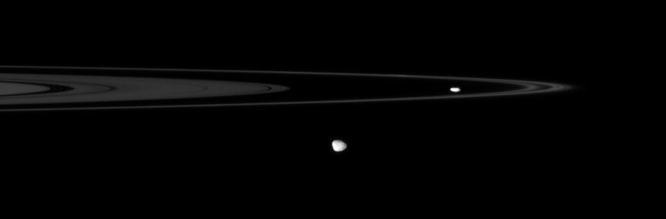 Prometheus, Janus, and rings