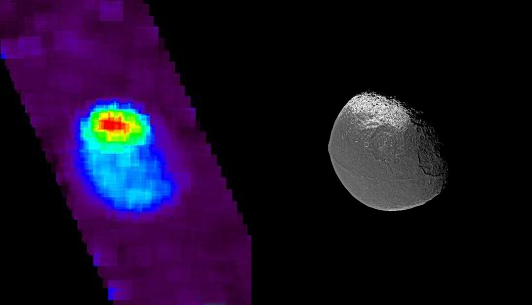 Two views of Iapetus