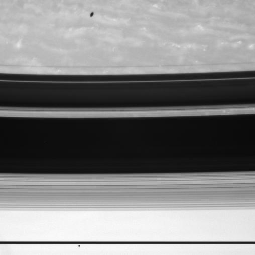 Saturn, Janus and Mimas