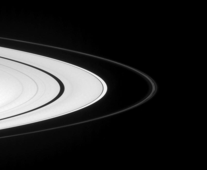 A view of Saturn's rings