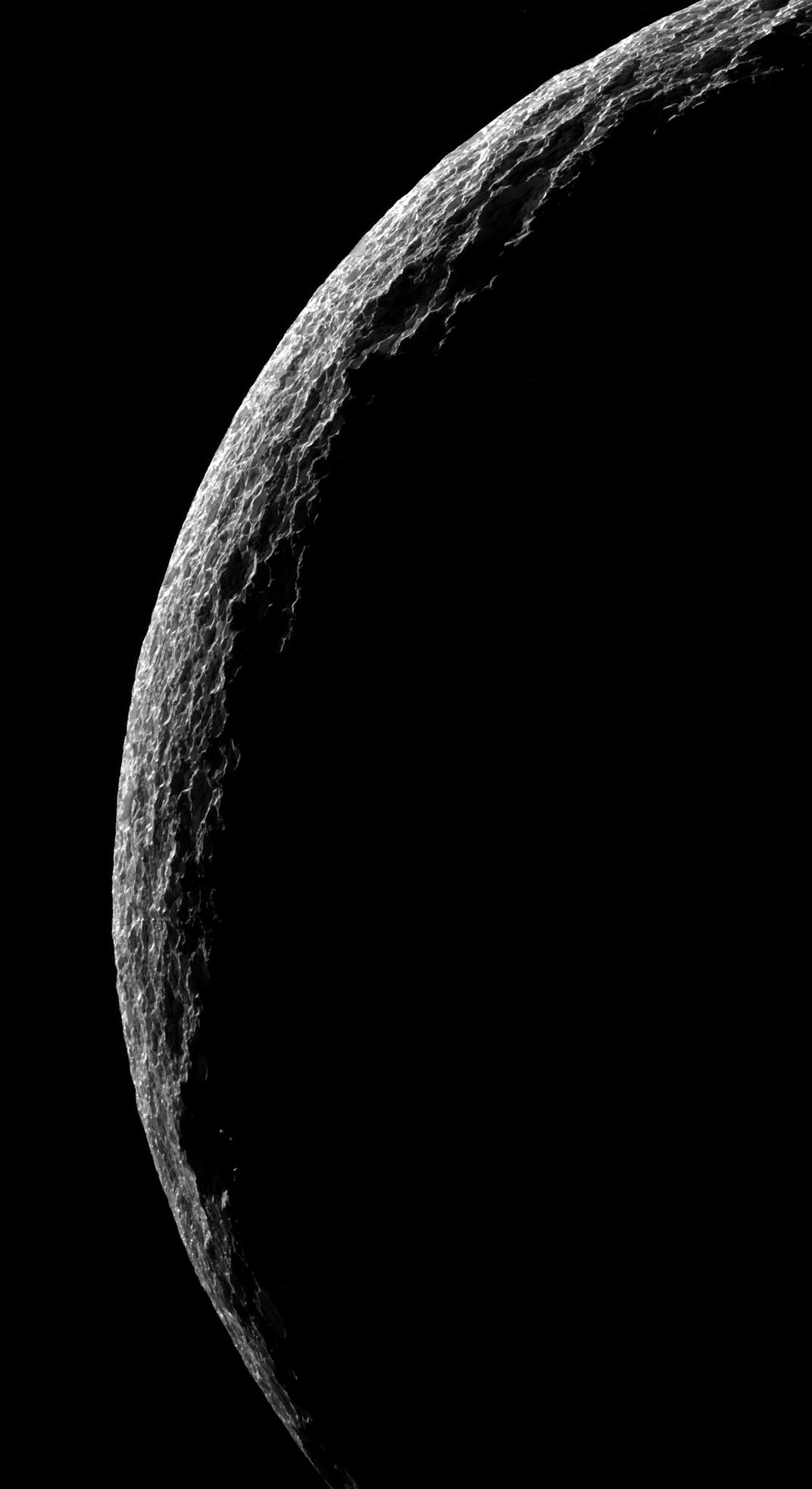 Tethys crescent view