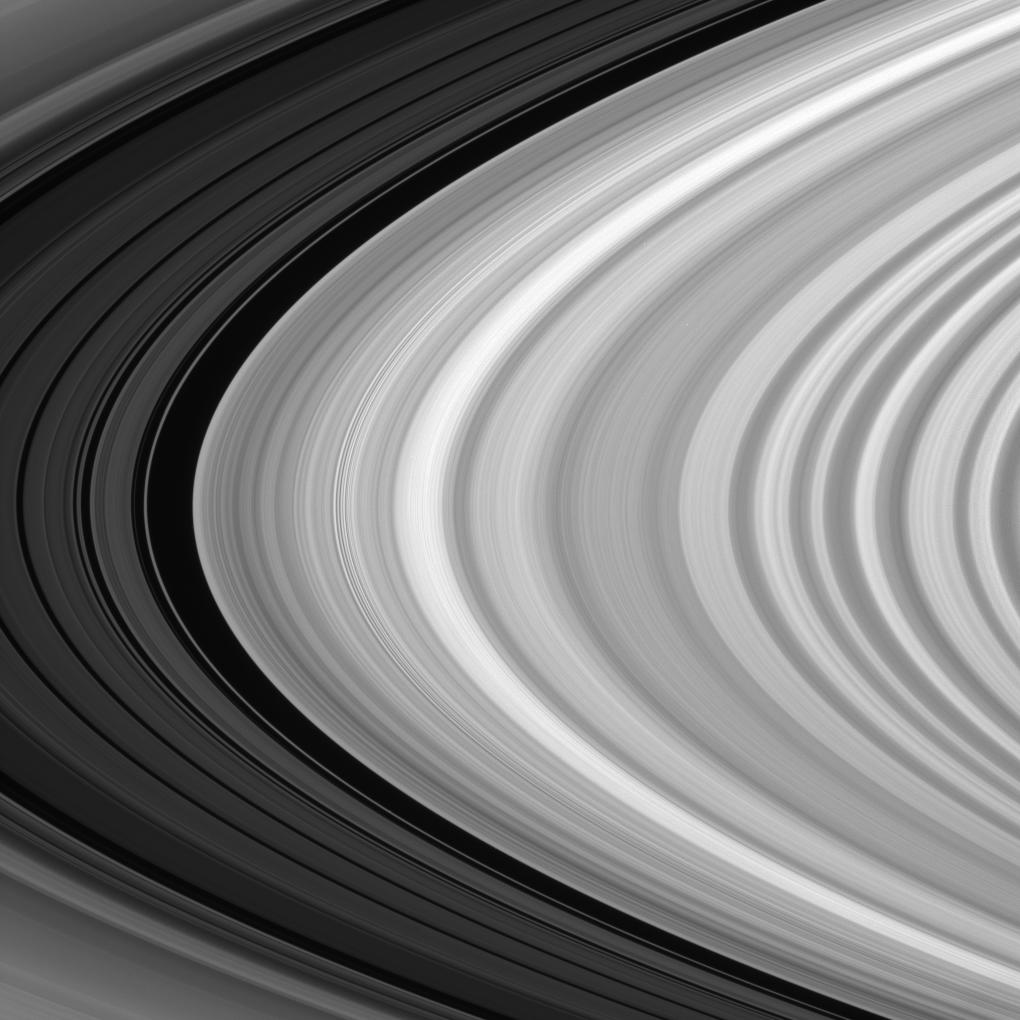 Close-up view of Saturn's rings