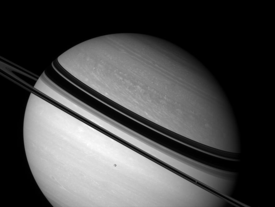 Saturn, Dione and Mimas